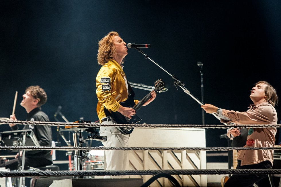 Arcade Fire's Richard Reed Parry and Will Butler at the Air Canada Centre