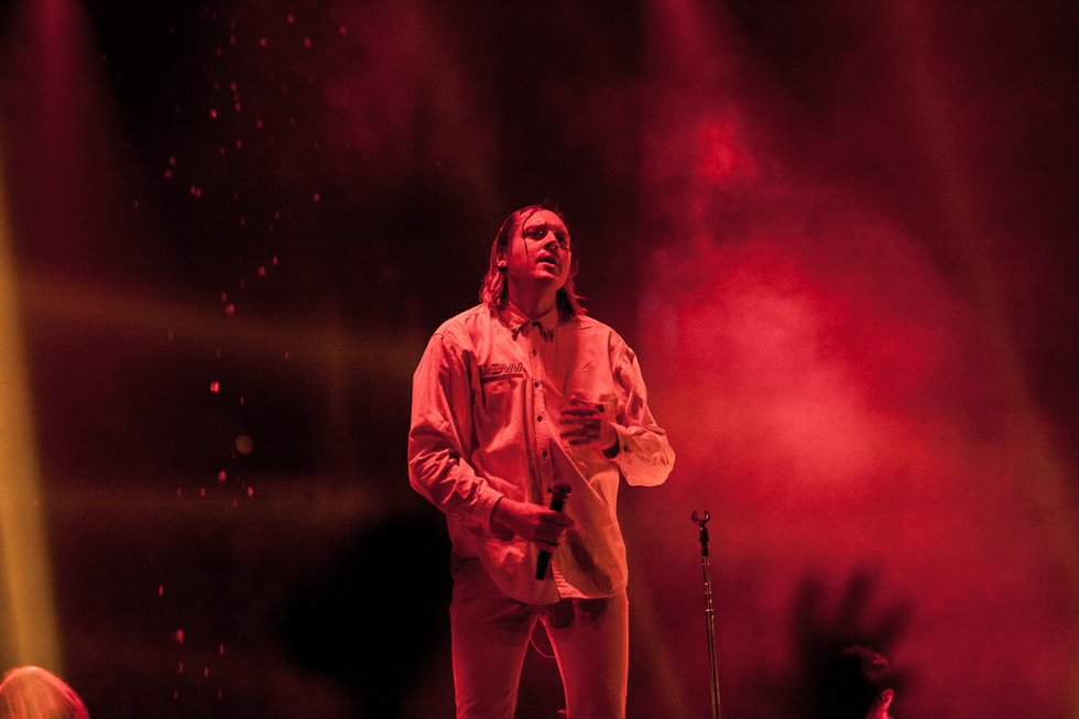 Win Butler of Arcade Fire at the Air Canada Centre