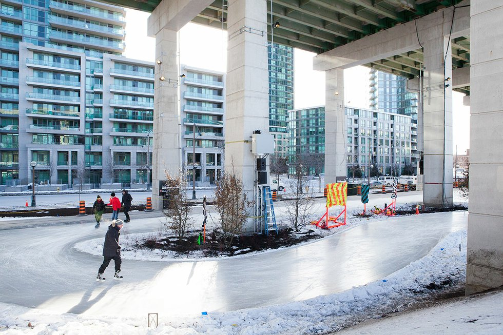 The Bentway Skate Trail beside the Fort York Visitor Centre, 250 Fort York, Toronto