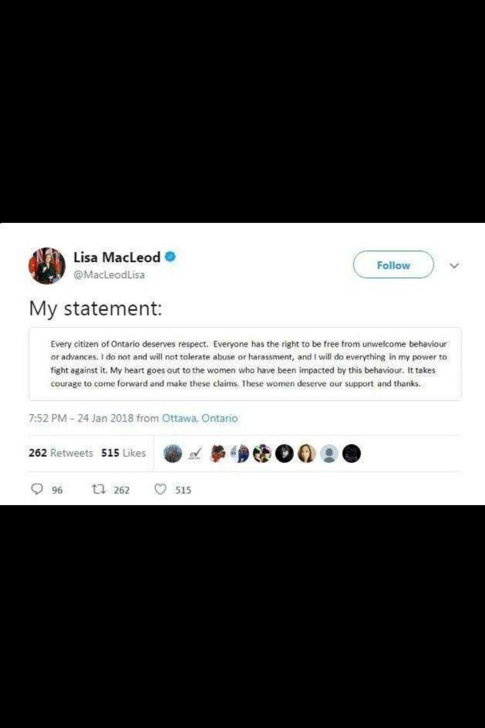 Lisa MacLeod tweet leake.JPG