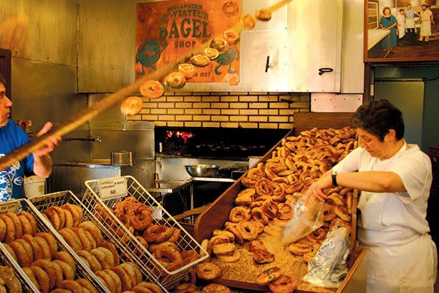 Bagels are a big deal in Montreal.