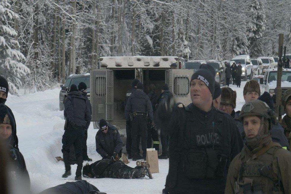 Arrests by police Unistoten camp 2.jpg