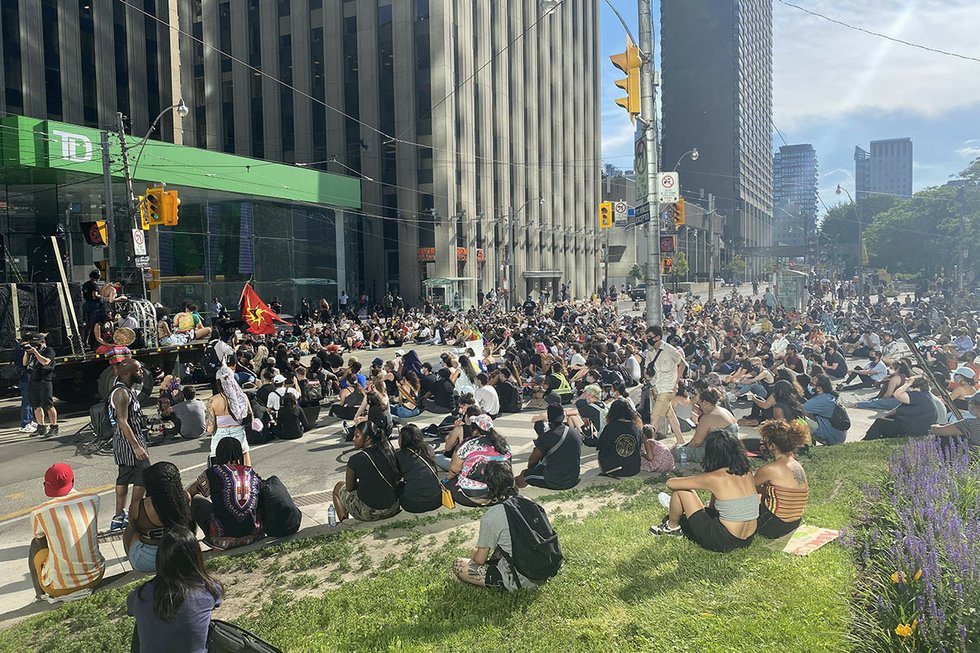 Defund police sit-in Toronto June 19, 2020 Web.jpg