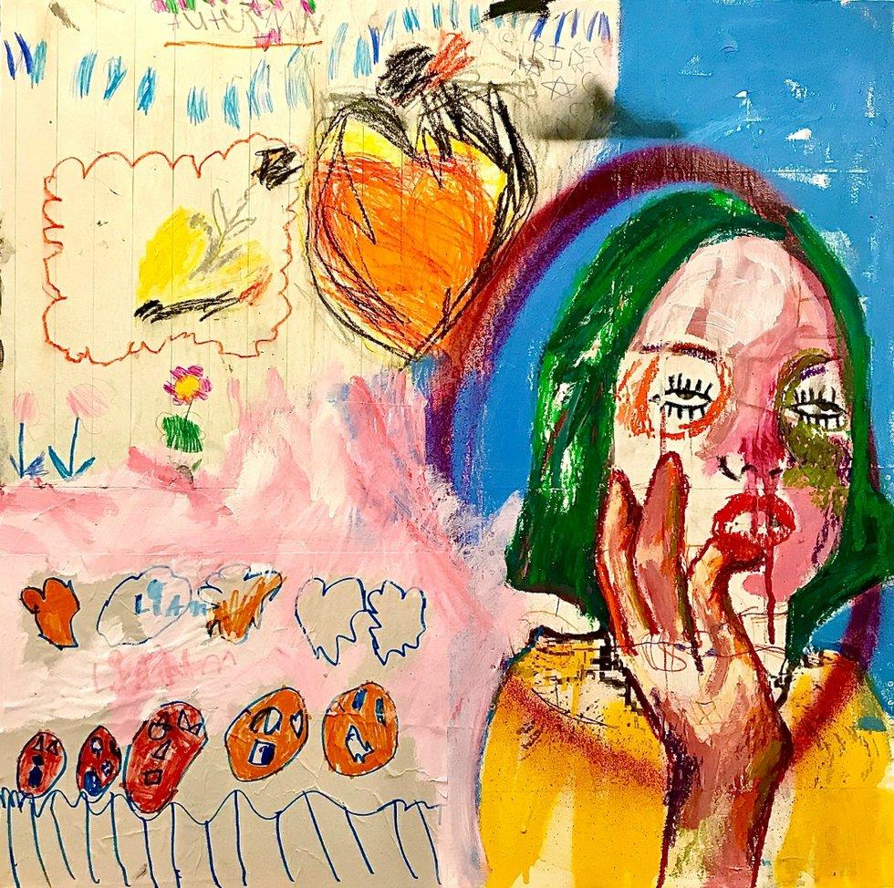 Dreaming abstract, mixed media Jason Balducci.jpg