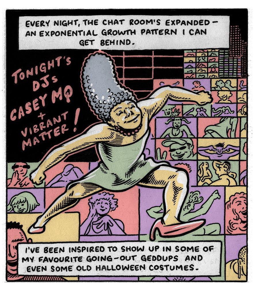 Eric Kostiuk Williams Club Q comic