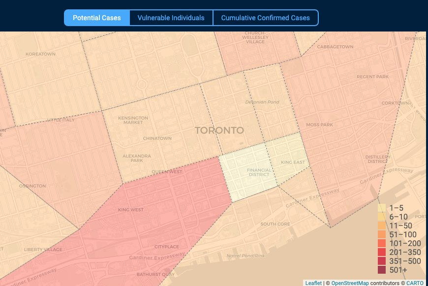A New Online Tool Maps Covid 19 Cases In Toronto Now Magazine