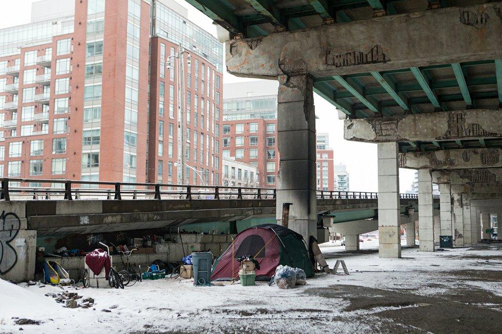 Homeless encampment under the Gardiner.jpg