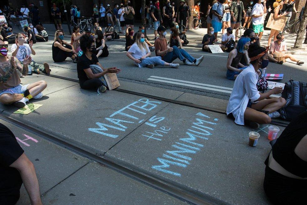 Juneteenth Sit-in Black Lives Matter protest