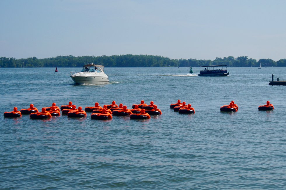 Safety Orange Swimmers