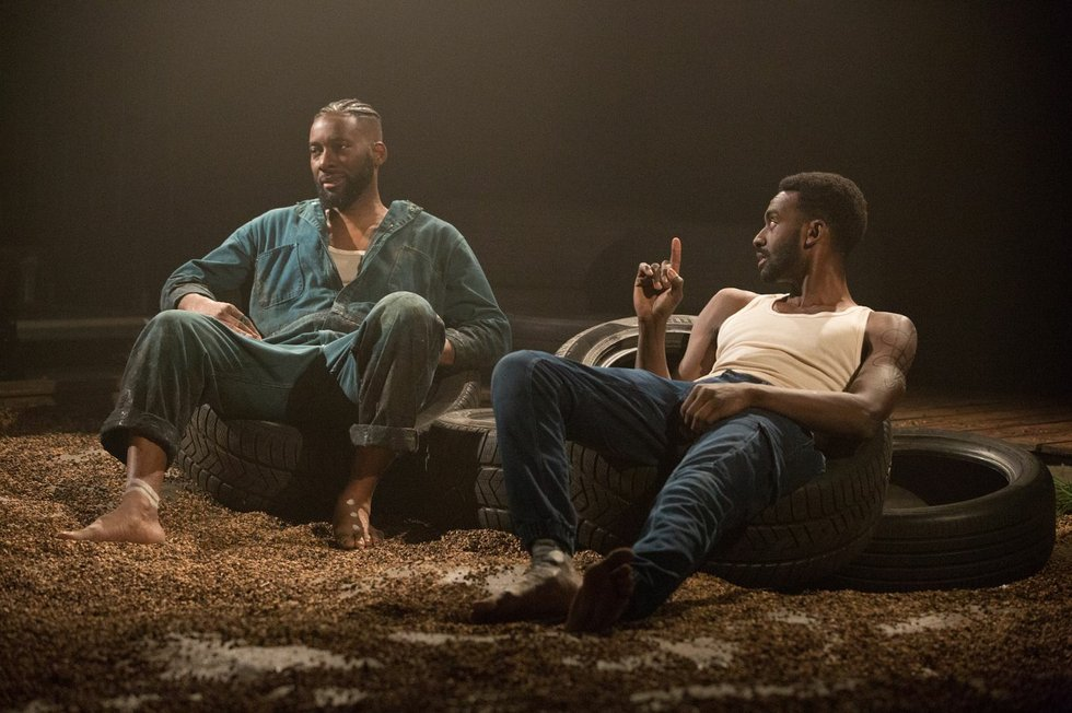 Daren A. Herbert and Mazin Elsadig in The Brothers Size, Soulpepper 2019