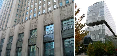 Bank of Nova Scotia (left) and Terrence Donnelly Centre (right).