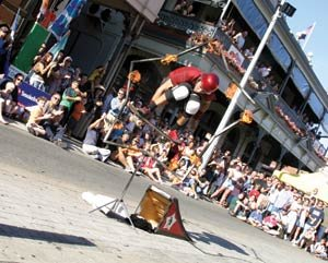 Brant Matthews has a burning desire to be noticed at Buskerfest.