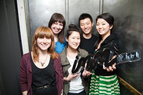 The IMM Living team members Ange-line Tetrault (left), Andrea Kezdi, Lesley Look Hong, Willie Tsang and Flora Lam