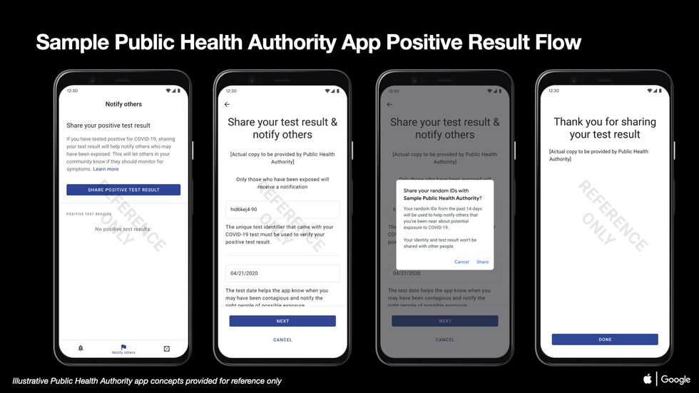 02 COVID-19 Exposure Notifications Sample Public Health Authority App Positive Result Android.png