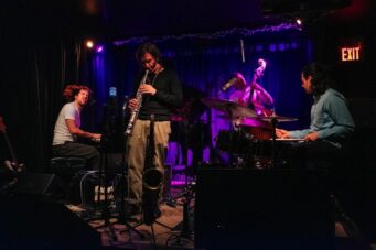 Matthew Tavares & Leland Whitty with their band at Burdock Piano Fest in January