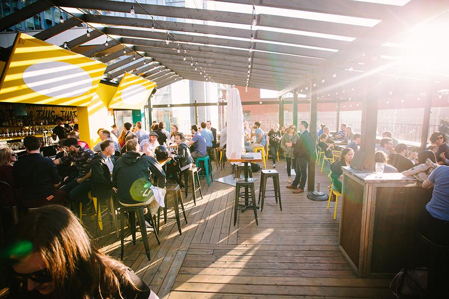 Bar Hop Brewco patio in Toronto