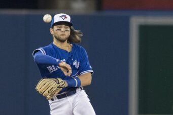 Toronto Blue Jays shortstop Bo Bichette. Sports are back!