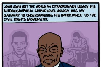 John Lewis comic