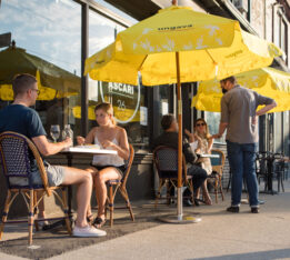 Ascari Queen East patio in Toronto