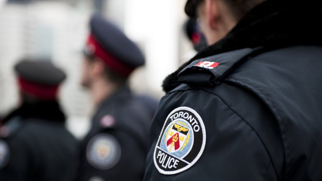 A photo of Toronto police officers