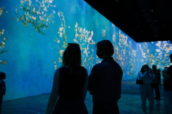 A photo from opening night of Immersive Van Gogh in Toronto
