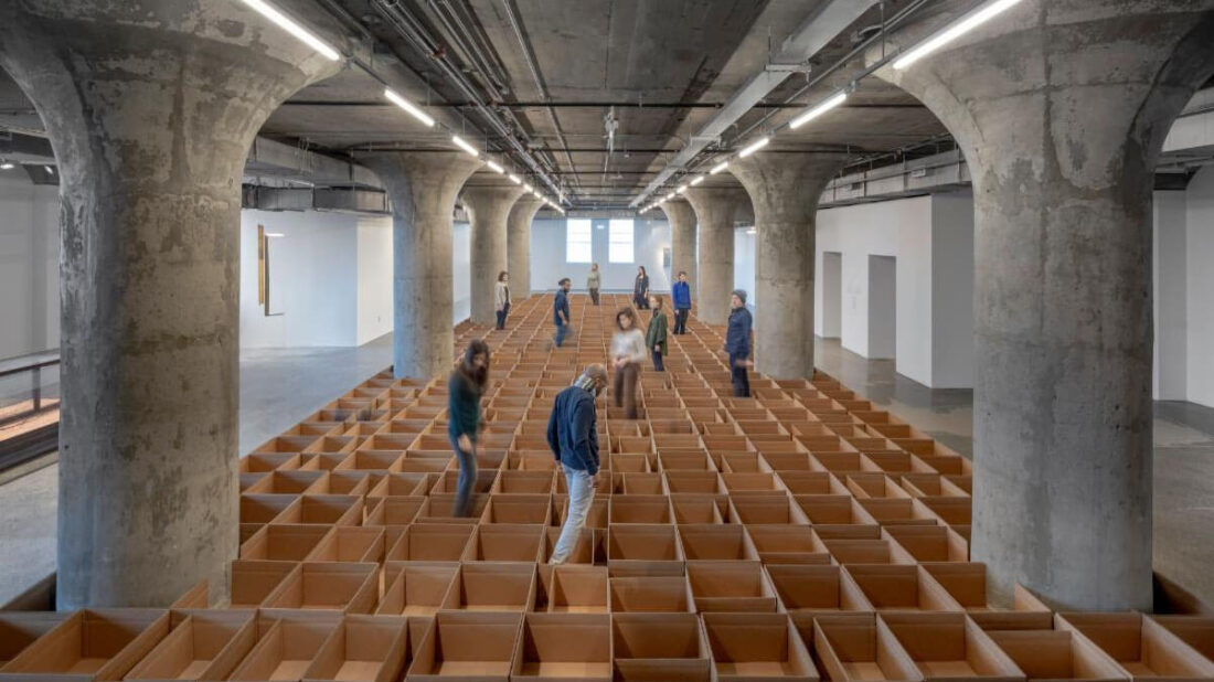 """alt=""""Artist Carlos Bunga's installation Occupy on display at the Museum of Contemporary Art Toronto in 2020"""""""