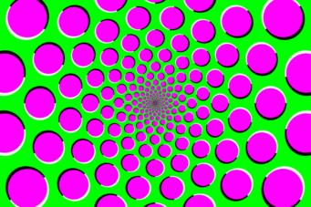 A motion illustration