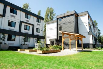 An example of a modular housing project in Vancouver