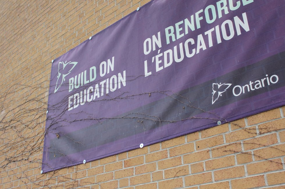 Build On Education Sign
