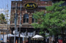 "alt=""The Rivoli bar and music venue on Queen West in Toronto in summer 2020"""