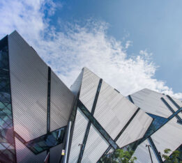 A photo of the Royal Ontario Museum in Toronto on July 7, 2020.