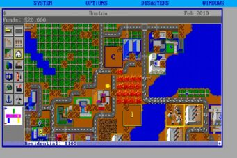 An image from the video game Sim City