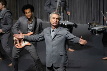 A still from Spike Lee's American Utopia documentary starring David Byrne