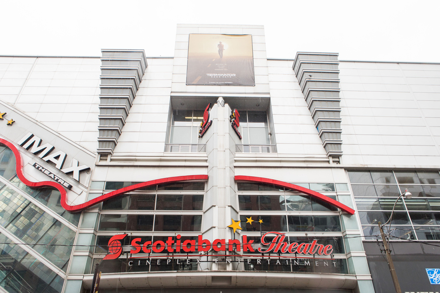 A photo of the Cineplex Scotiabank Theatre in Toronto