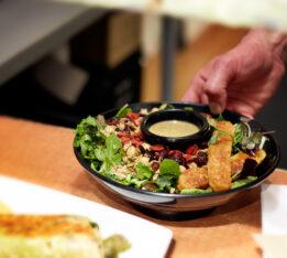 A salad bowl at Live Organic Food Bar.