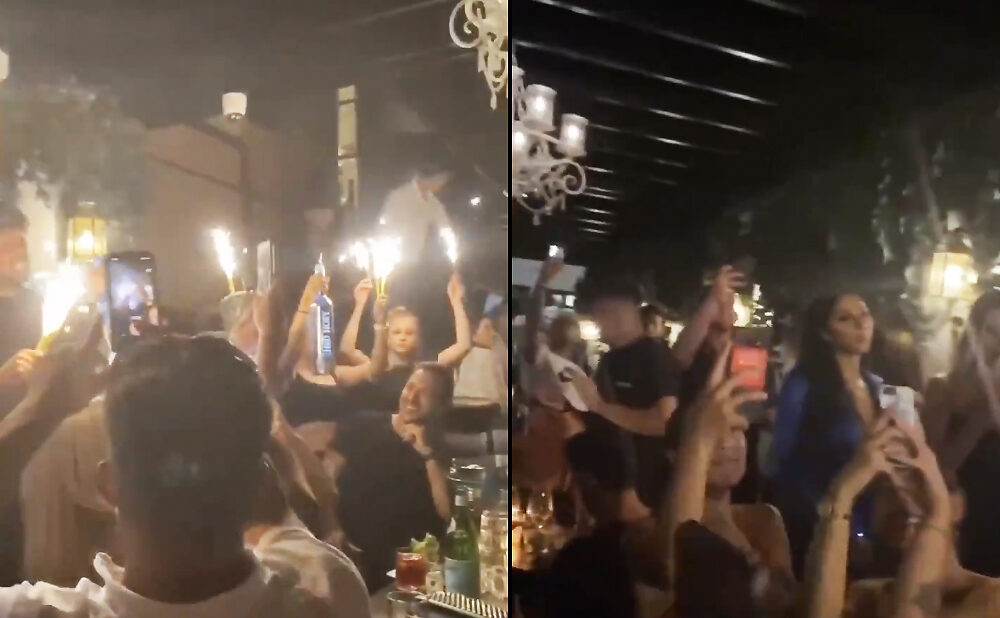 Stills of a video showing Marbl's patio