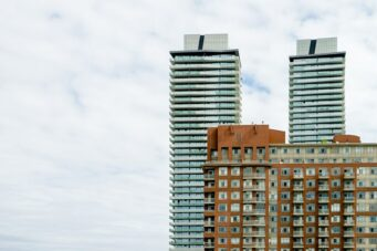 A photo of apartment buildings in Toronto