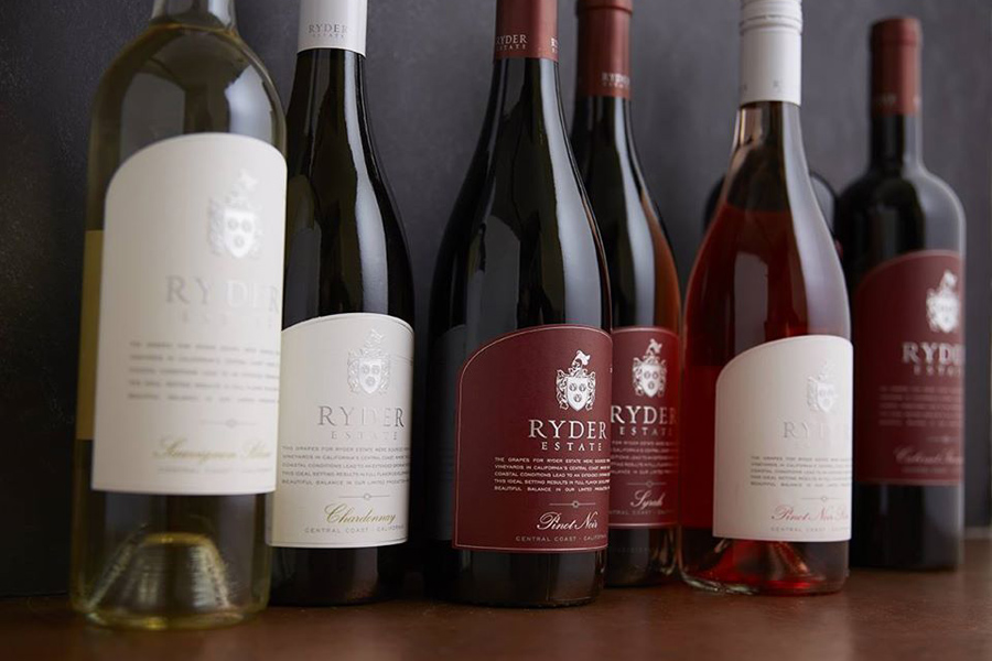 Ryder Estates wine bottles.