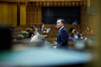 A photo of former Canadian finance minister Bill Morneau in Parliament on July 8, 2020