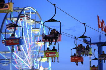 A photo of the Sky Ride at the CNE in Toronto