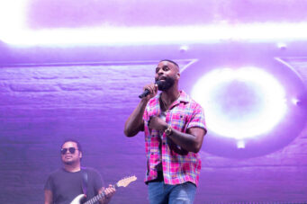 Dvsn's Daniel Daley performs at CityView Drive-in in Toronto on August 12, 2020.
