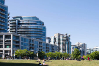 A photo of condos nears Toronto's waterfront.