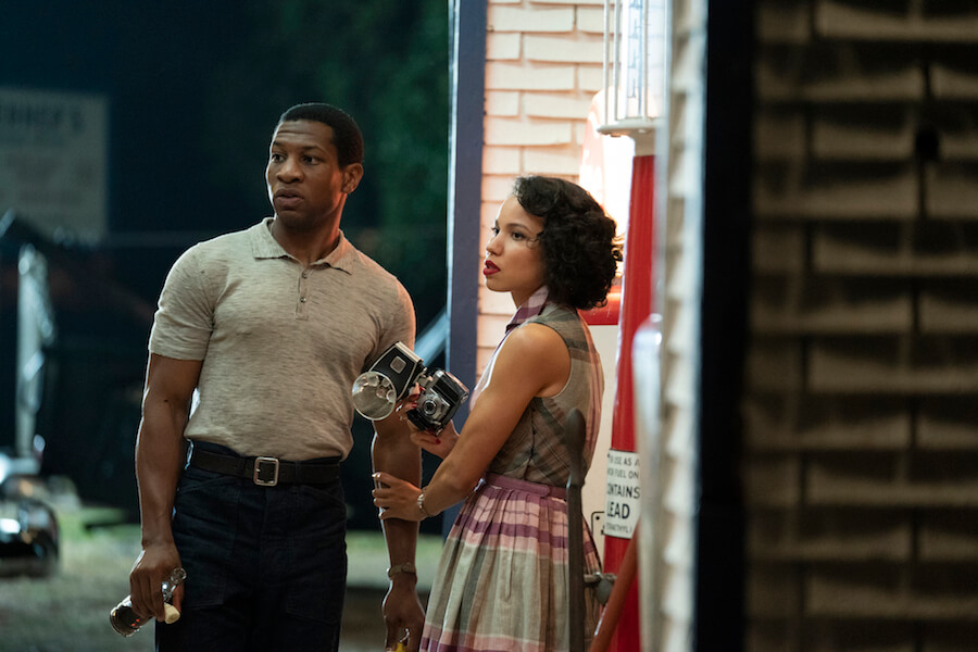 Jonathan Majors and Jurnee Smollett in the HBO series Lovecraft Country.