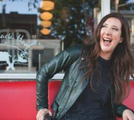 Jen Agg, outside the former Black Hoof