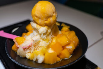 A photo of the Taiwanese dessert mango shaved ice
