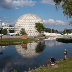A photo of the Cinesphere at Ontario Place in Toronto.