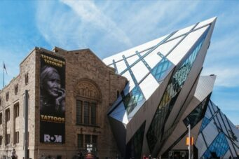 The Royal Ontario Museum, an example of Toronto facadism.
