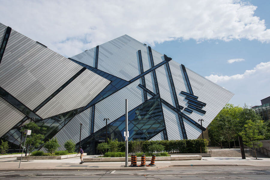 A photo of the Royal Ontario Museum in Toronto