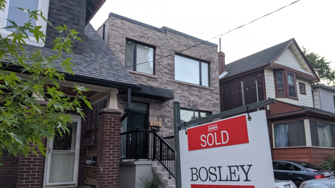 Toronto real estate prices are at an all time high in July.