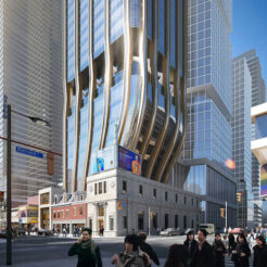A rendering of a proposed mixed-use tower at Yonge and Gerard that could house a new Club Bluenote